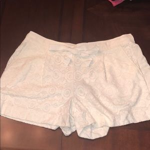 Loft cream lace shorts